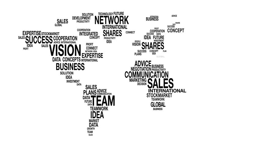 Word Cloud of Business World Stock Footage Video (100% Royalty