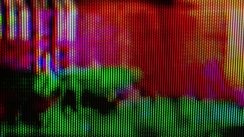 Digital TV broadcast glitch, television screen with error signal as technology background, looping 4k UHD footage