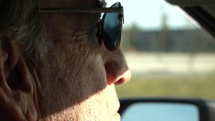 Senior Gentleman Driving - Slow Motion - Closeup   Shutterstock HD Video #12090698