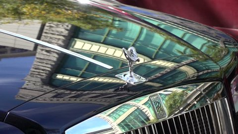 MONTREAL, CANADA - OCTOBER 2015: Rolls Royce - Beautiful Slow Motion Display