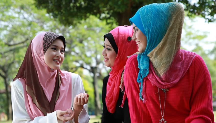 Beautiful Muslim Girls at the Park having a good time