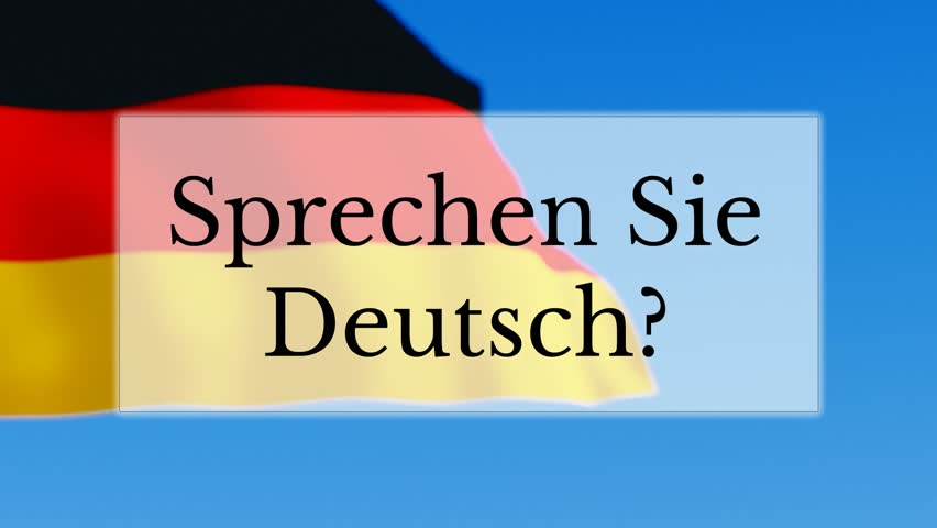 Sprechen Sie Deutsch Text W Stock Footage Video (100%