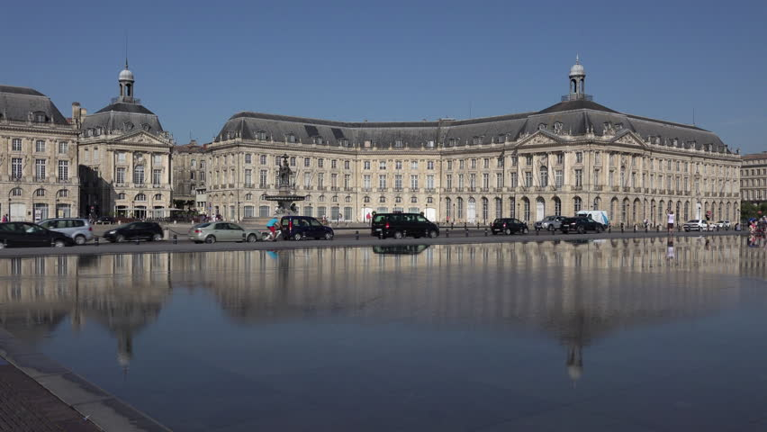 Stock market place in Bordeaux