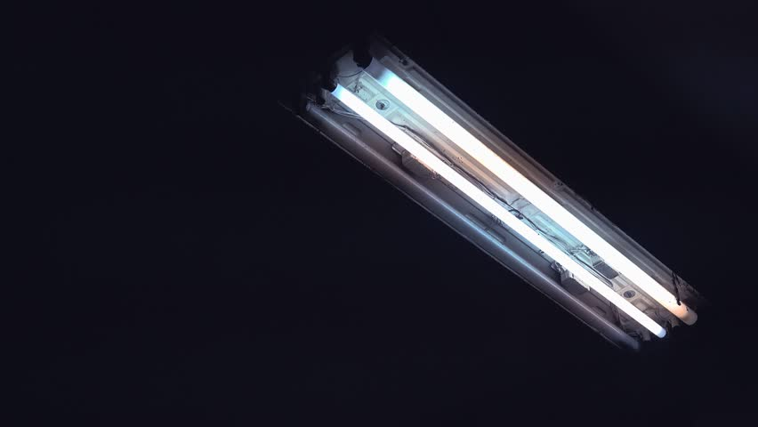 neon fluorescent lighting neon light glass tubes switching on and off 4k 2160p uhd