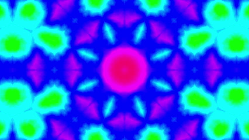 Colorful Psychedelic Garish Kaleidoscope Background Stock Footage Video  (100% Royalty-free) 12247448 | Shutterstock