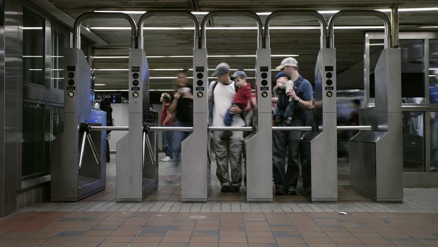 New York City, New York-United States - 10,31,2007: subway turnstile | Shutterstock HD Video #12252308