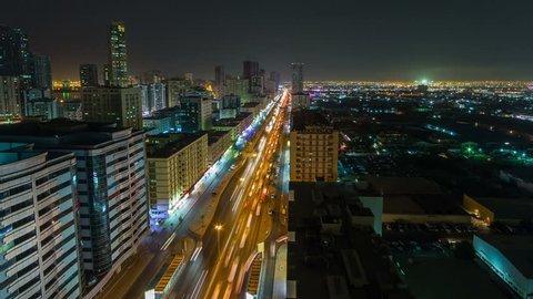 Sharjah Night Timelapse
