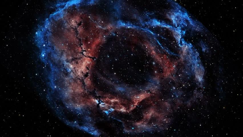 Blue/Pink Nebula Fly Through