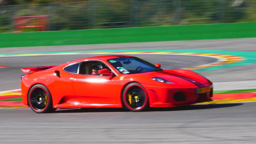 SPA BELGIUM SEPTEMBER Ferrari F Sports Car Driving - Sport car driving