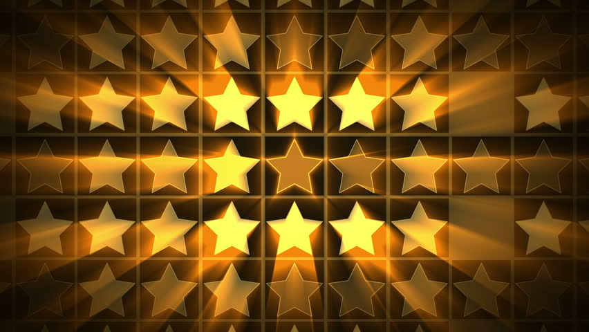 Shiny Gold Stars Wall Background - 1080p. Elegant shiny motion background. Perfect to use with music and titles | Shutterstock HD Video #12359288