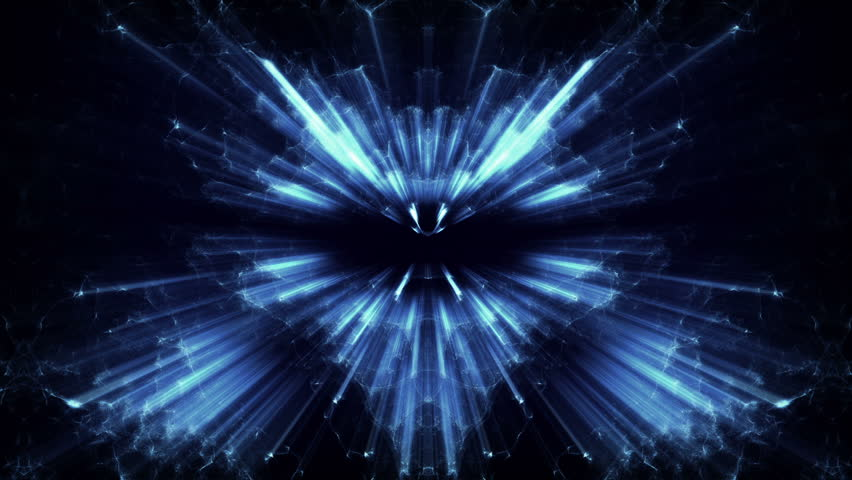 Fancy Light Effects In A Dark Background Stock Footage: Fancy Light Effects In A Stock Footage Video (100% Royalty