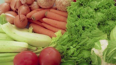Vegetables dolly shot
