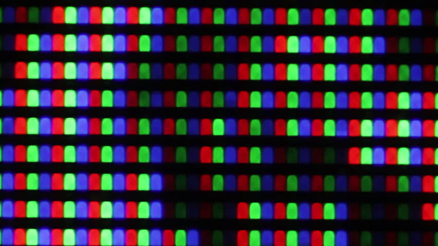 Red Green And Blue Subpixels Of Rgb Pixels In Macro