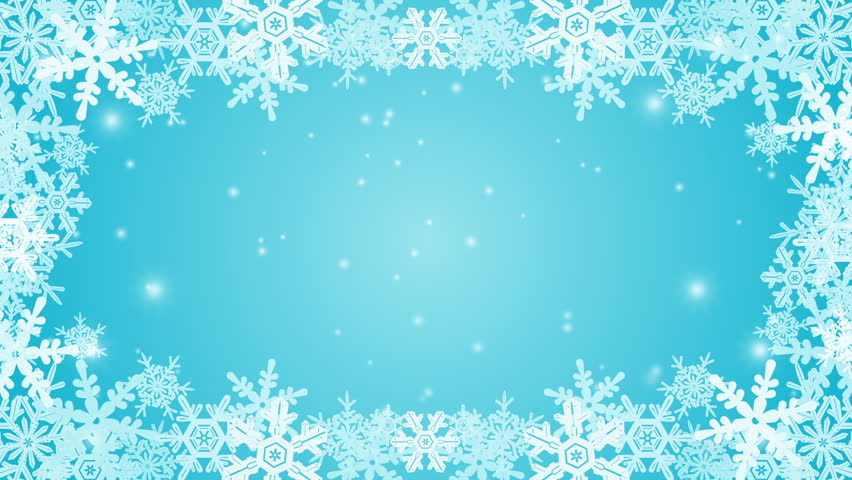 Stock video of frozen snowflake frame animation -blue | 12405458 ...