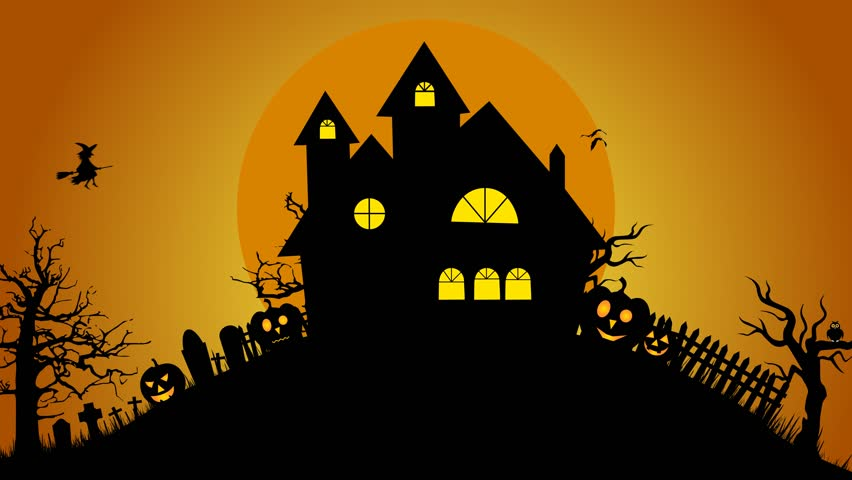 Scary Halloween Motion Graphics Footage Stock Footage Video ...