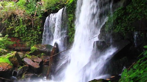 Waterfall in deep forest rom klao paradon waterfall in phu hin rong kla national park, Phitsanulok province asia southeast asia Thailand