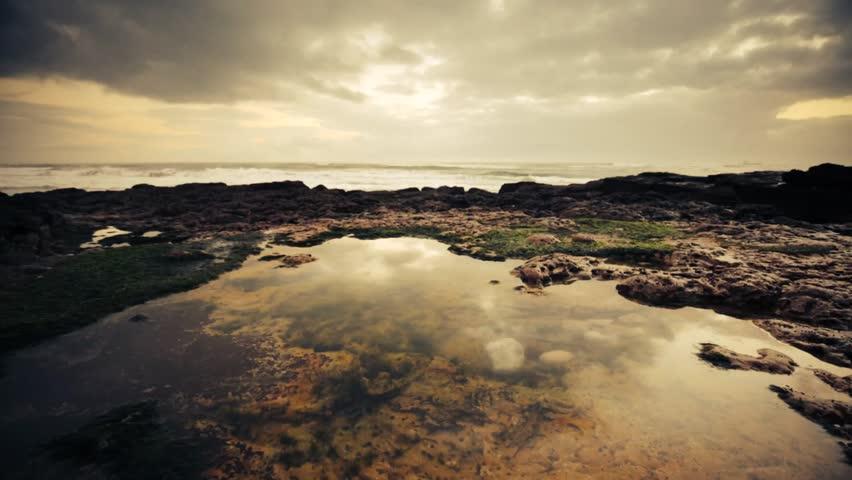 Cinemagraph Loop - Waves crashing on rocks - motion photo   Shutterstock HD Video #12529592