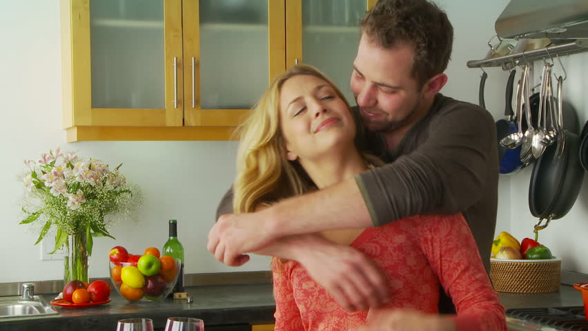 Hasil gambar untuk couple hug in kitchen