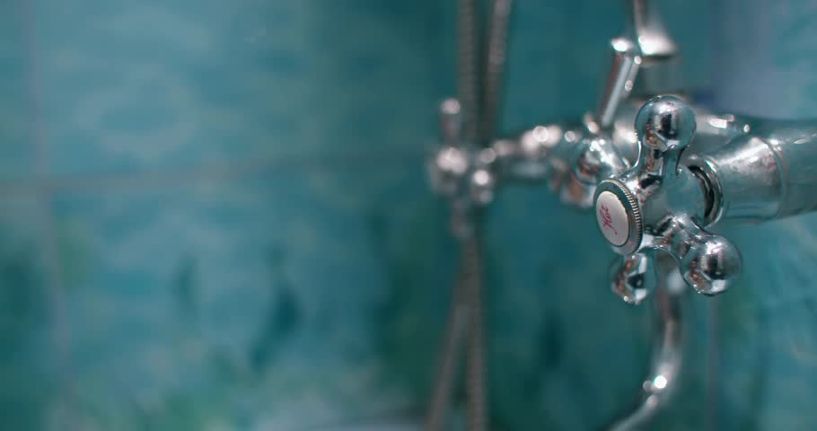 Stock video of old antique bath taps with hot | 12561548 | Shutterstock