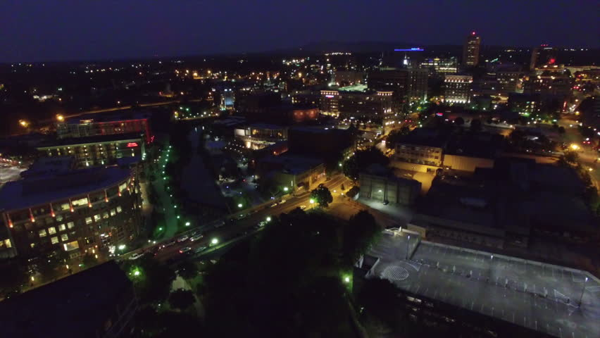 Small Town America Aerial View Greenville South Carolina | Shutterstock HD Video #12563288