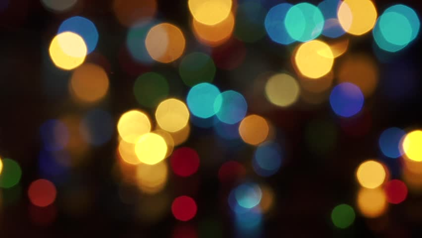 new year bokeh lights hd stock footage clip - Christmas Motion Lights