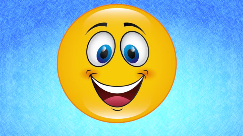 Yellow Happy Face Video Animation, HD 1080 Stock Footage