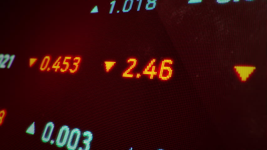 Animation of moving stock data on screen of computer. Abstract background of business and finance. Animation of seamless loop. | Shutterstock HD Video #12614078