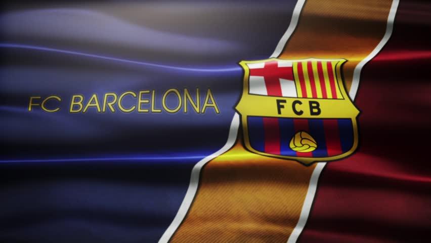 Barcelona , SPAIN - 30 October 2015 - Animated logo of Spanish football club FC Barcelona.