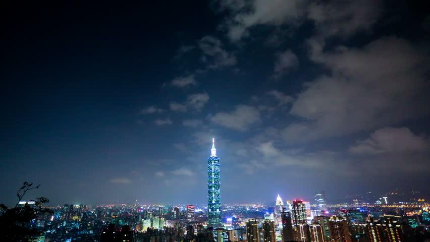 Taipei landmark building,Taipei 101 building in sunset:4k time lapse | Shutterstock HD Video #12722948