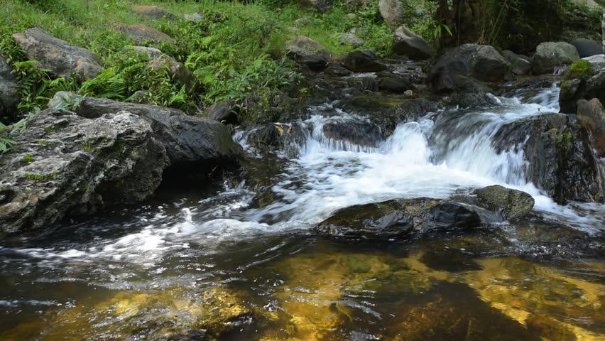 Forest waterfall at Klong Lan waterfall National Park, Kampangphet, Thailand. | Shutterstock HD Video #12730328