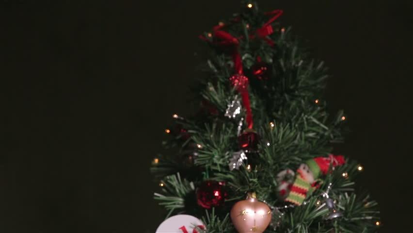 Christmas Tree And Snowfall Stock Footage Video 21667432  - Christmas Tree Discounts