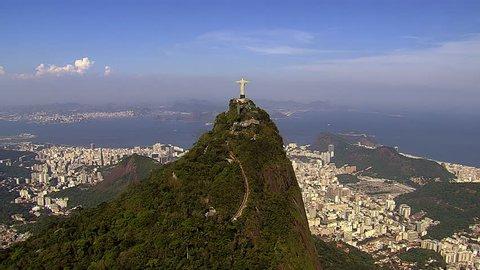 Aerial view of Botafogo Bay and Sugarloaf Mountain, Rio de Janeiro, Brazil
