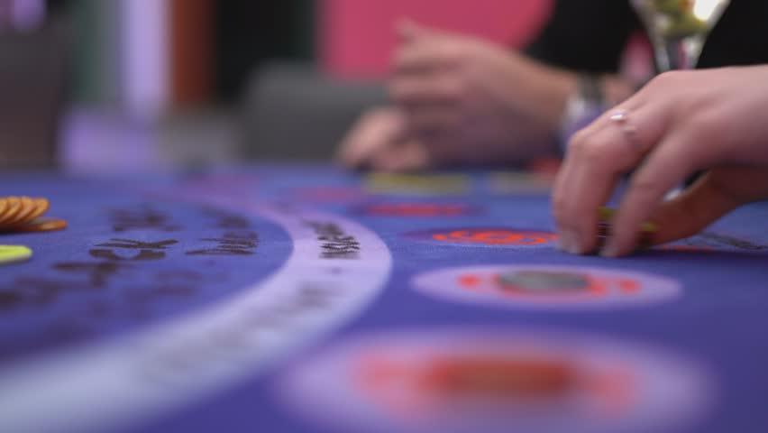 Gambling Black Jack in a casino - making bets | Shutterstock HD Video #12838328