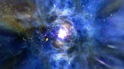 Space 2121: Flying through star fields and galaxies in deep space (Loop).