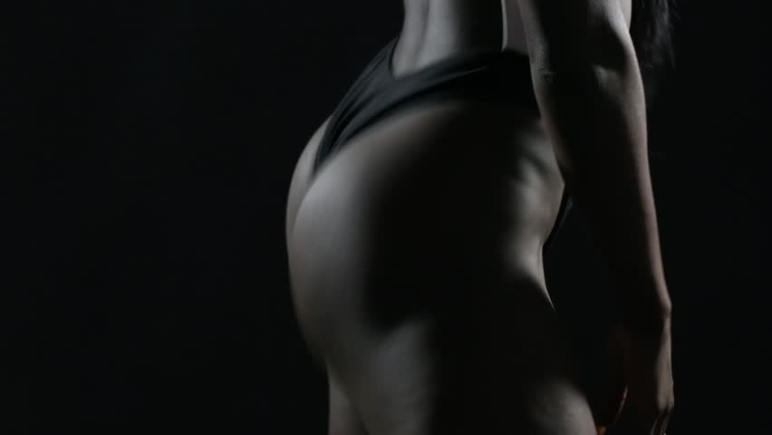 Beautiful and sexy african woman twerking closeup