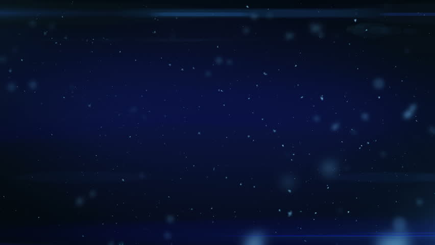 Dust in Space. Dark Blue Background with Flares. Looped. HD 1080.