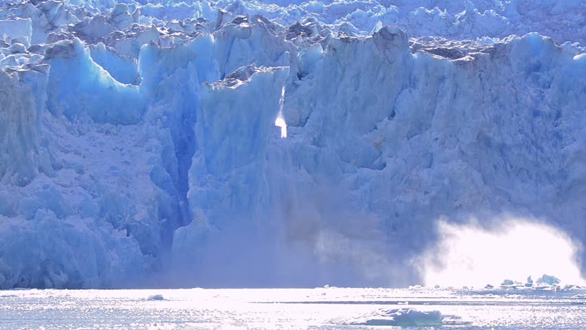 FORDS TERROR WILDERNESS, ALASKA - CIRCA 2015 - Tidewater South Sawyer glacier calving in Tracy Arm - Fords Terror Wilderness in Southeast Alaska. | Shutterstock HD Video #12949616