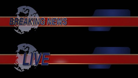 Breaking News Live with Globe Lower Third in Alpha Matte