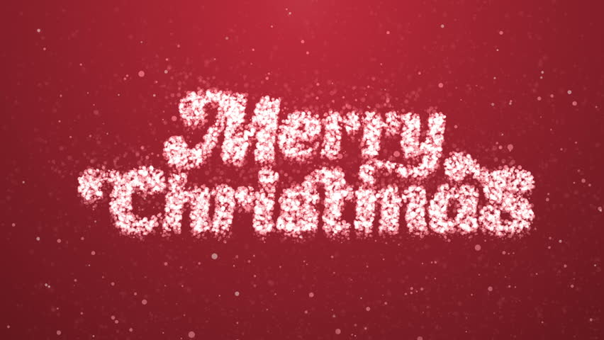 Merry Christmas Greeting Intro Card Stock Footage Video 100