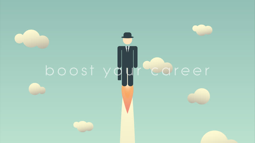 career development cartoon animation template stock