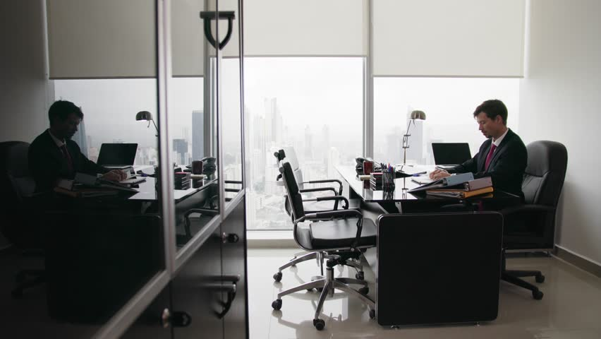 Stock video of corporate manager in modern office takes | 13011278 ...