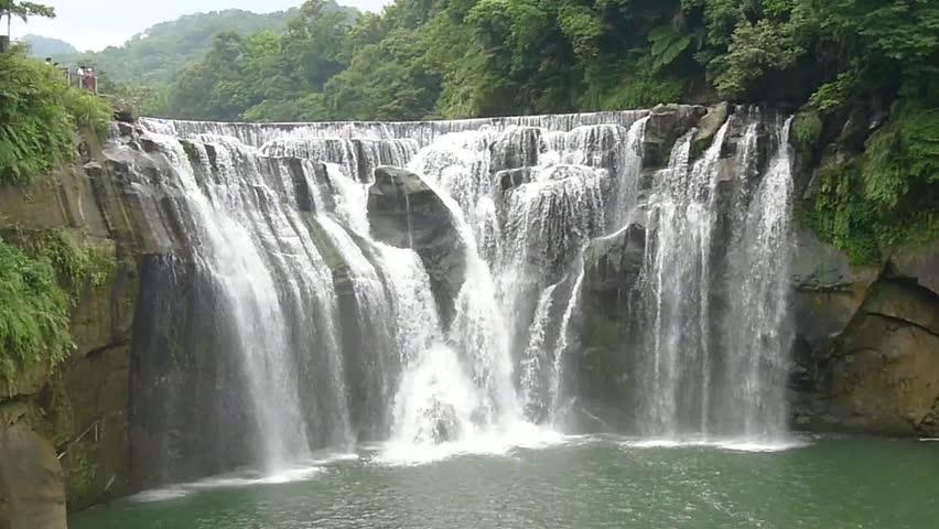 Shifen waterfall cascading in Taipei