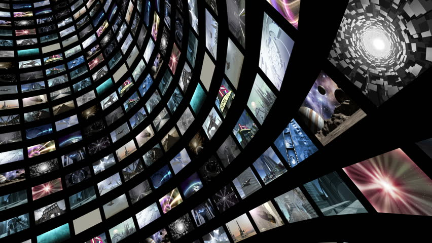 Animated video wall, rotating with green screen. 3d rendering | Shutterstock HD Video #13045508