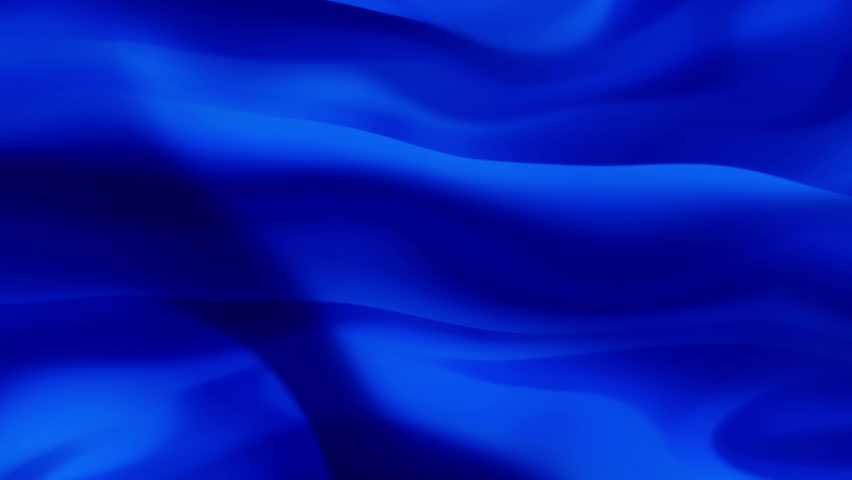 A Background Of Rippled And Folded Deep Royal Blue Fabric