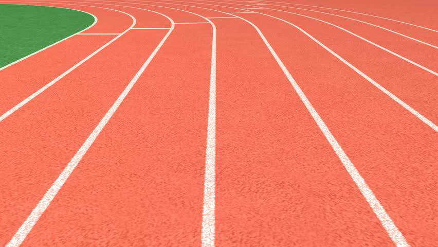 Athletics stadium running track, sport field – looping  | Shutterstock HD Video #13135238