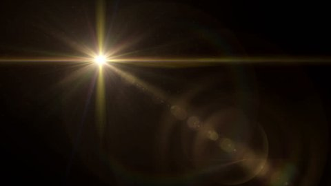 abstract image of lens flare representing the glow star effect with 4K video