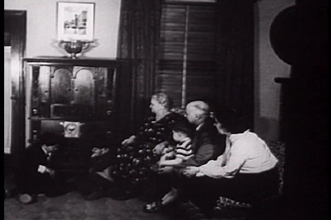 CIRCA 1950s - Radio has made possible communicating the results of the elections in 1924, 1928, 1932, and quickly spread the news of the king\xEAs abdication in 1936.