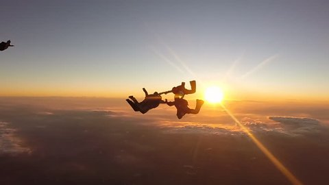 Skydiving sunset group