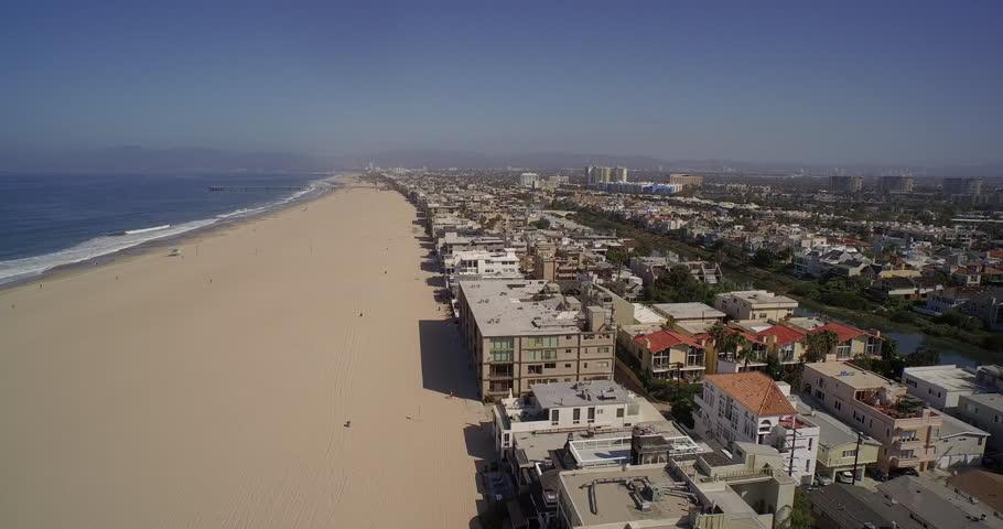 Aerial View Of Venice Beach And Marina Del Rey Santa Monica Los Angeles California Usa Stock Footage Video 13197128 Shutterstock