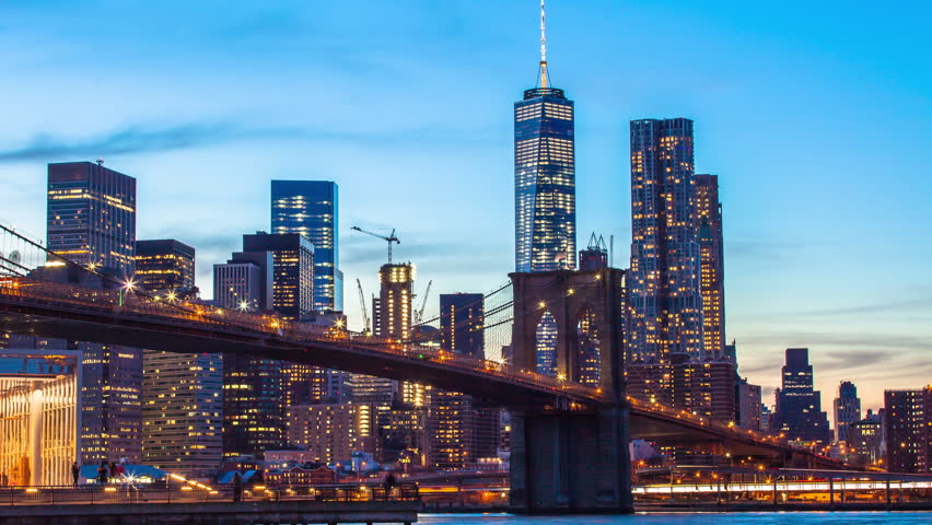 Time lapse sunset shot of lower manhattan and brooklyn bridge new time lapse sunset shot of lower manhattan and brooklyn bridge new york usa videos de metraje en stock 13209998 shutterstock malvernweather Gallery